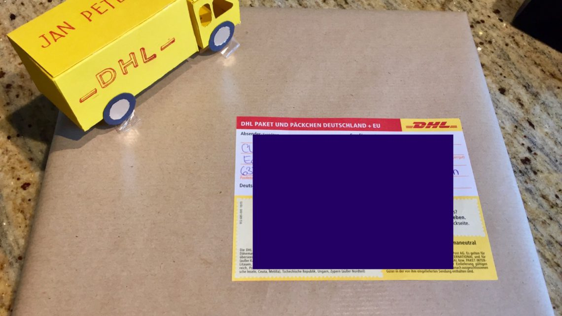 Postpäckchen zum 5. Geburtstag